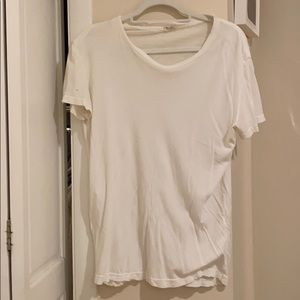 Distressed white tshirt